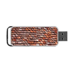Roof Tiles On A Country House Portable Usb Flash (two Sides) by Amaryn4rt