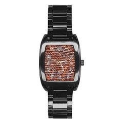 Roof Tiles On A Country House Stainless Steel Barrel Watch by Amaryn4rt