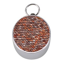 Roof Tiles On A Country House Mini Silver Compasses by Amaryn4rt