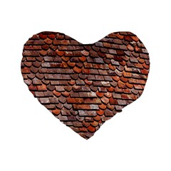 Roof Tiles On A Country House Standard 16  Premium Flano Heart Shape Cushions by Amaryn4rt