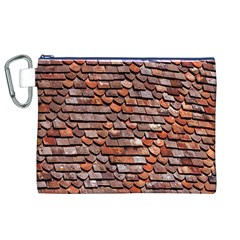 Roof Tiles On A Country House Canvas Cosmetic Bag (xl) by Amaryn4rt