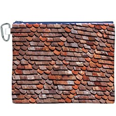 Roof Tiles On A Country House Canvas Cosmetic Bag (xxxl) by Amaryn4rt