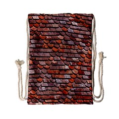 Roof Tiles On A Country House Drawstring Bag (small) by Amaryn4rt