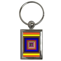 Square Abstract Geometric Art Key Chains (rectangle)  by Amaryn4rt