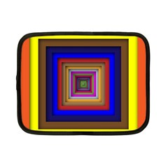 Square Abstract Geometric Art Netbook Case (small)  by Amaryn4rt