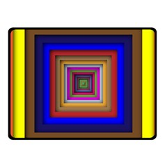 Square Abstract Geometric Art Fleece Blanket (small) by Amaryn4rt