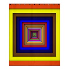 Square Abstract Geometric Art Shower Curtain 60  X 72  (medium)  by Amaryn4rt