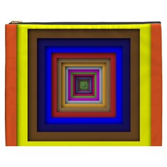 Square Abstract Geometric Art Cosmetic Bag (xxxl)  by Amaryn4rt