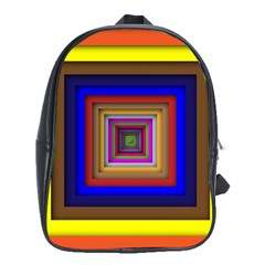 Square Abstract Geometric Art School Bags (xl)  by Amaryn4rt