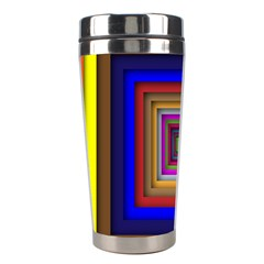 Square Abstract Geometric Art Stainless Steel Travel Tumblers by Amaryn4rt