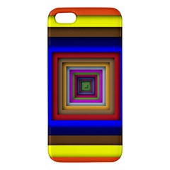 Square Abstract Geometric Art Iphone 5s/ Se Premium Hardshell Case by Amaryn4rt