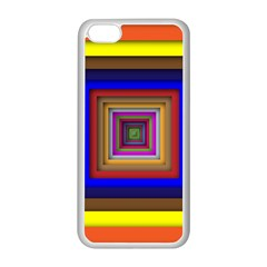 Square Abstract Geometric Art Apple Iphone 5c Seamless Case (white) by Amaryn4rt