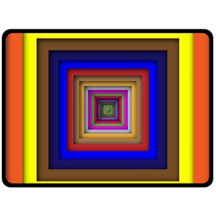 Square Abstract Geometric Art Double Sided Fleece Blanket (large)  by Amaryn4rt