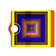 Square Abstract Geometric Art Kindle Fire Hdx 8 9  Flip 360 Case by Amaryn4rt