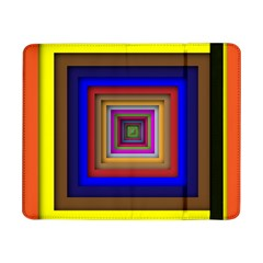 Square Abstract Geometric Art Samsung Galaxy Tab Pro 8 4  Flip Case by Amaryn4rt