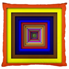 Square Abstract Geometric Art Standard Flano Cushion Case (two Sides) by Amaryn4rt