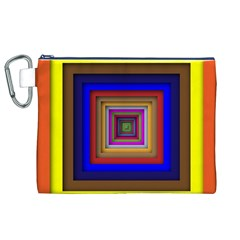 Square Abstract Geometric Art Canvas Cosmetic Bag (xl) by Amaryn4rt