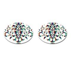 Damask Decorative Ornamental Cufflinks (oval) by Amaryn4rt