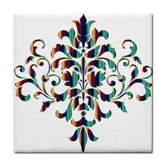 Damask Decorative Ornamental Face Towel by Amaryn4rt