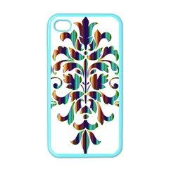 Damask Decorative Ornamental Apple Iphone 4 Case (color) by Amaryn4rt
