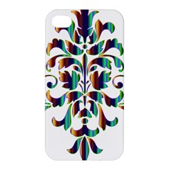 Damask Decorative Ornamental Apple Iphone 4/4s Premium Hardshell Case by Amaryn4rt