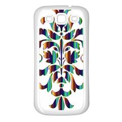 Damask Decorative Ornamental Samsung Galaxy S3 Back Case (white) by Amaryn4rt