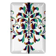 Damask Decorative Ornamental Amazon Kindle Fire Hd (2013) Hardshell Case by Amaryn4rt