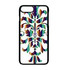 Damask Decorative Ornamental Apple Iphone 7 Plus Seamless Case (black)