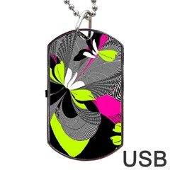 Nameless Fantasy Dog Tag Usb Flash (two Sides) by Amaryn4rt