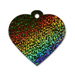 Construction Paper Iridescent Dog Tag Heart (two Sides) by Amaryn4rt