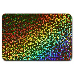 Construction Paper Iridescent Large Doormat  by Amaryn4rt