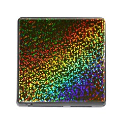 Construction Paper Iridescent Memory Card Reader (square) by Amaryn4rt