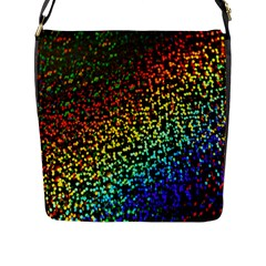 Construction Paper Iridescent Flap Messenger Bag (l)  by Amaryn4rt