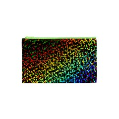Construction Paper Iridescent Cosmetic Bag (xs) by Amaryn4rt