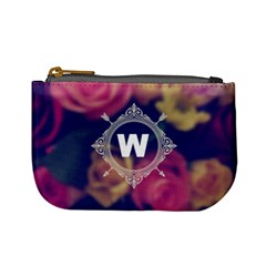 Vintage Monogram Flower  Coin Change Purse by makeunique