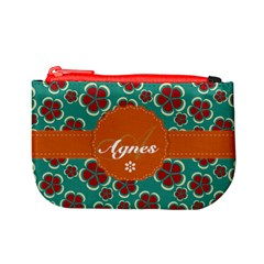 Flower Green Coin Change Purse by makeunique