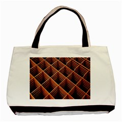Metal Grid Framework Creates An Abstract Basic Tote Bag (two Sides) by Amaryn4rt