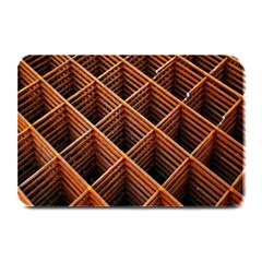 Metal Grid Framework Creates An Abstract Plate Mats by Amaryn4rt