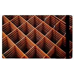 Metal Grid Framework Creates An Abstract Apple Ipad 3/4 Flip Case by Amaryn4rt