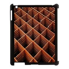 Metal Grid Framework Creates An Abstract Apple Ipad 3/4 Case (black) by Amaryn4rt