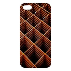 Metal Grid Framework Creates An Abstract Iphone 5s/ Se Premium Hardshell Case by Amaryn4rt