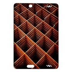Metal Grid Framework Creates An Abstract Amazon Kindle Fire Hd (2013) Hardshell Case by Amaryn4rt