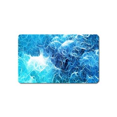 Fractal Occean Waves Artistic Background Magnet (name Card) by Amaryn4rt