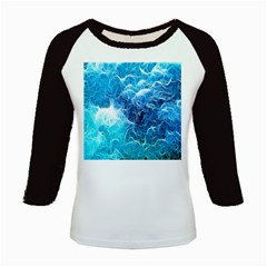 Fractal Occean Waves Artistic Background Kids Baseball Jerseys