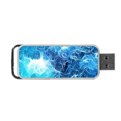 Fractal Occean Waves Artistic Background Portable Usb Flash (one Side) by Amaryn4rt