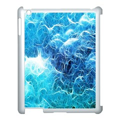 Fractal Occean Waves Artistic Background Apple Ipad 3/4 Case (white) by Amaryn4rt