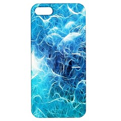 Fractal Occean Waves Artistic Background Apple Iphone 5 Hardshell Case With Stand by Amaryn4rt