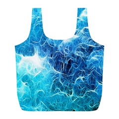 Fractal Occean Waves Artistic Background Full Print Recycle Bags (l)  by Amaryn4rt