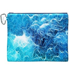 Fractal Occean Waves Artistic Background Canvas Cosmetic Bag (XXXL)