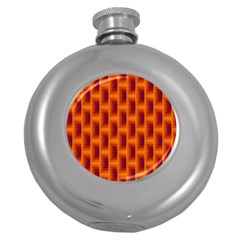 Fractal Multicolored Background Round Hip Flask (5 Oz) by Amaryn4rt